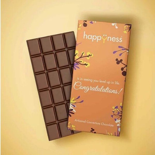 Happyness Chocolates Congratulations Chocolate Bar Graduation Day Celebration