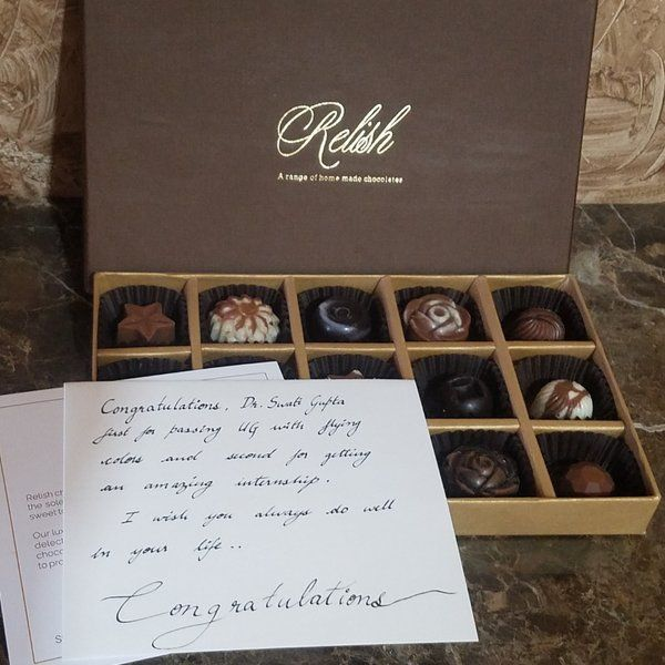Relish Chocolates Congratulations Customized Message Unique Wedding Gifts For Best Friend