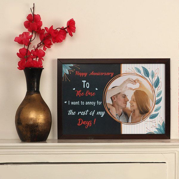 FlowerAura Couple Anniversary Frame Small Gifts For Husband