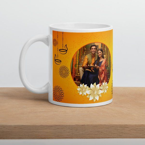 Privy Express Couple Personalized Gift for Diwali Coffee Mug Diwali Gifts For Wife