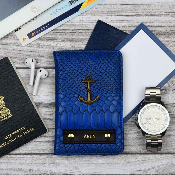 Tisora Designs Croco Blue Passport Wallet Birthday Gift Ideas For Female Best Friend