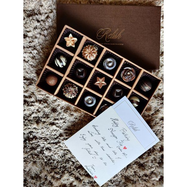 Relish Chocolates Customized Message Birthday Personalised Rakhi Gifts For Brother