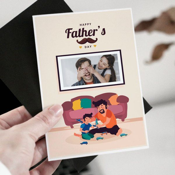 Privy Express Cute Father's Day Personalized Greeting Card Greeting Card For Fathers Day