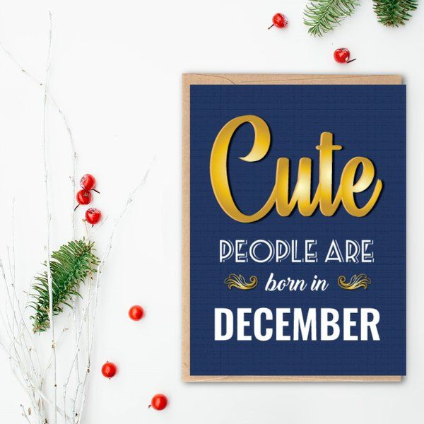 Privy Express Cute People December Birthday Greeting Card Birthday Greeting Cards For Friends