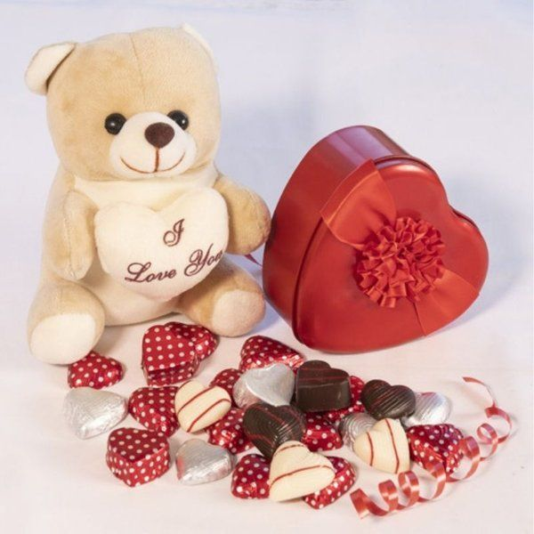 Cute Teddy with Chocolates Best Gifts for Girlfriend under 1000