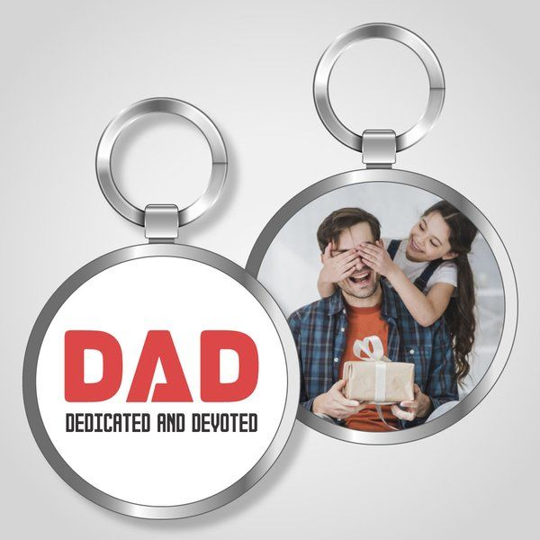 Privy Express DAD - Dedicated And Devoted Keychain Dad Keychains