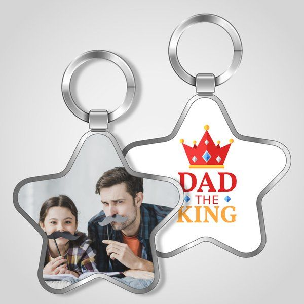 Privy Express Dad The King Keychain Dad Keychains