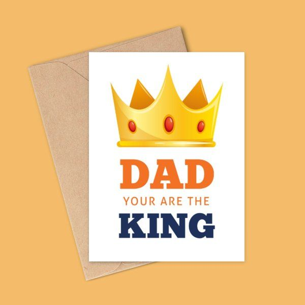 Privy Express Dad you are the King Birthday Card For Father