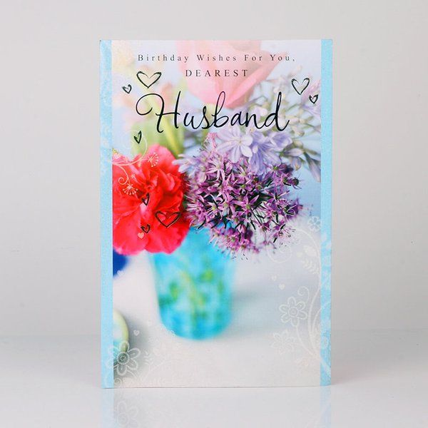 FlowerAura Dearest Husband Birthday Card Special Gift For Husband