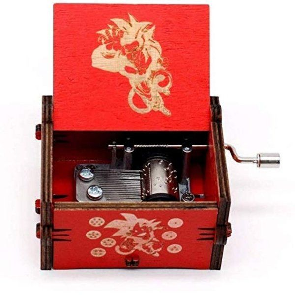 zestaindia Dragon Ball Z Wooden Hand Cranked Collectable Engraved Music Box Useful Gifts For Brother