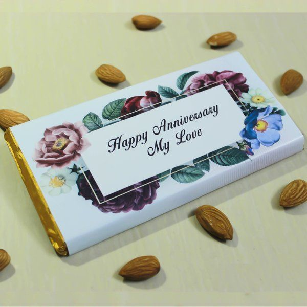 Personalized Message Chocolate Bar Simple Gift for Girlfriend Under 200