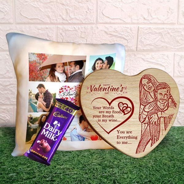 Privy Express Engraved in My Heart Personalized Valentine's Day Hamper  Cute Gifts For Husband