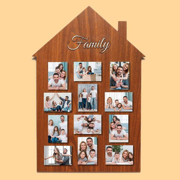 FlowerAura Family House Frame Unique Gifts For Wife