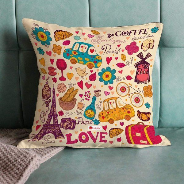 Indigifts Fancy Cute Love Pillow Cushion Cover With Filler Cute Gifts For Best Friend