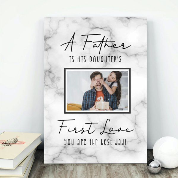 Privy Express Father & Daughter Personalized Table Photo Frame Fathers Day Photo Frame
