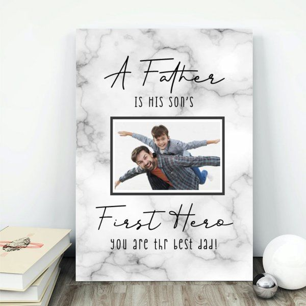 Privy Express Father & Son Personalized Table Photo Frame Useful Gifts For Dad