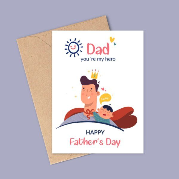Privy Express First Father's Day Greeting Card For Fathers Day