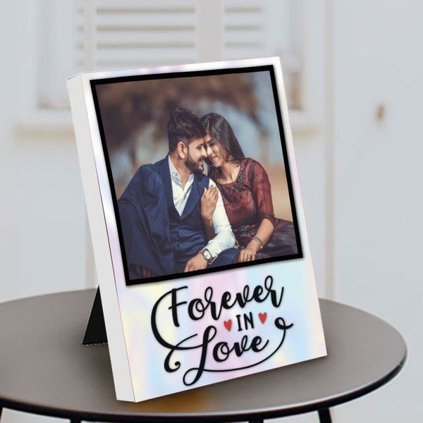 Privy Express Forever in Love Printed Personalized Portrait Table Photo Frame Special Gift For Husband