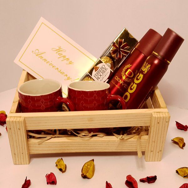 Hoods & Bonds Fragnance Of Our Love  - Anniversary Gift Hamper with Personalized Card Latest Gifts For Husband