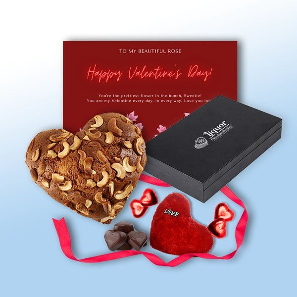 Liquor Chocolates And Cakes From the Heart Alcoholic Cake and Chocolate Box Combo with Goodies for Your Special One Latest Gifts For Husband