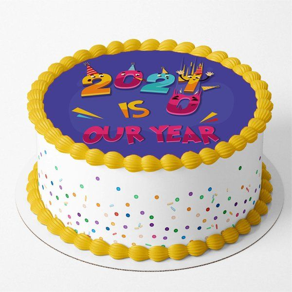 CakeZone Funny 2021 Cartoons Anti 2020 Graphic Cake Memorable Gifts For Friends