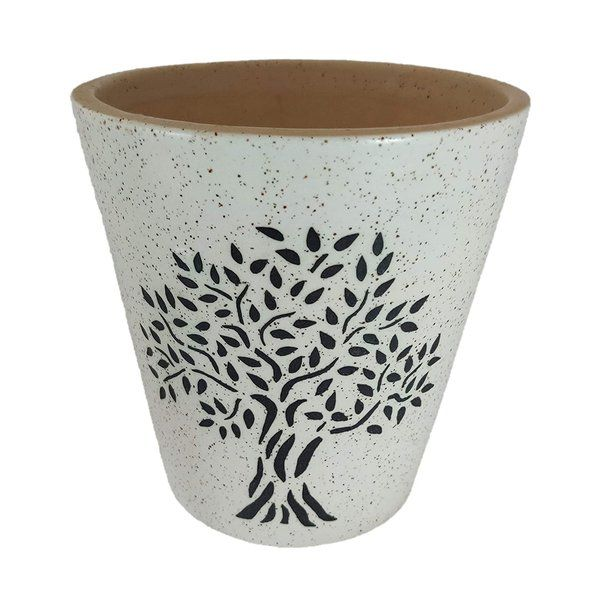 UrbanRoots Glass Shape Big Ceramic Pot Gift For Married Sister