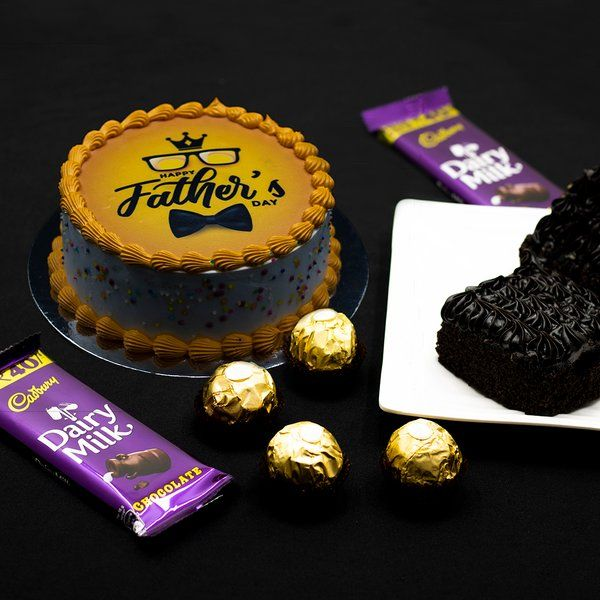 CakeZone Happy Father's Day Choco Overload Gourmet Hamper Simple Fathers Day Gifts