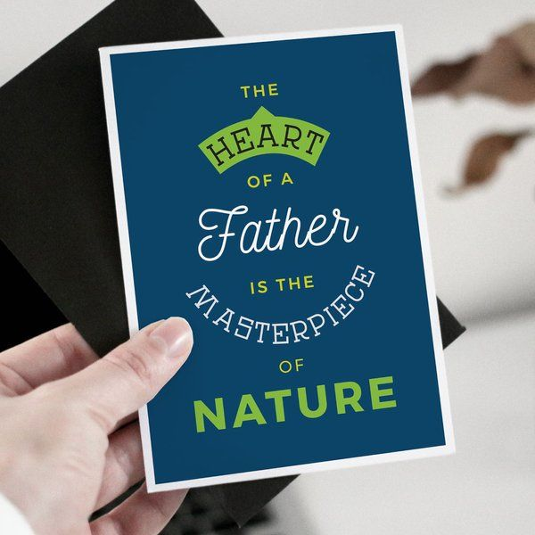 Privy Express Heart of a Father is the Masterpiece Greeting Card Birthday Card For Father