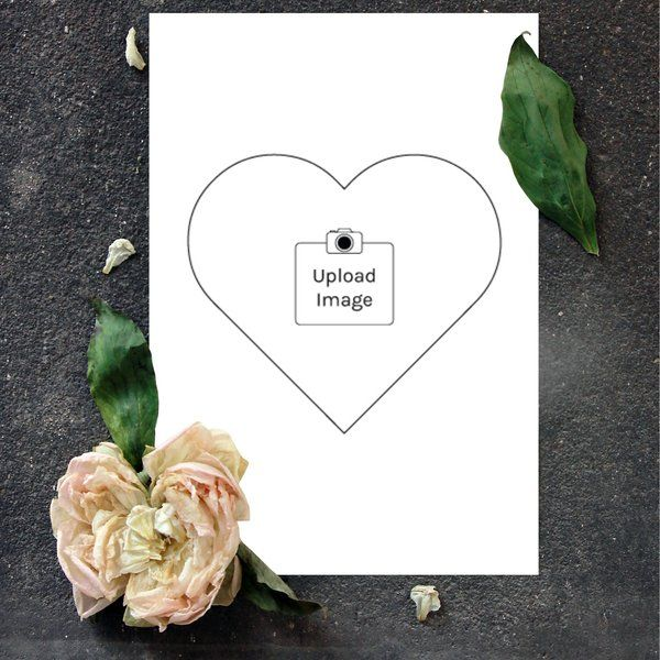 Privy Express Heart Shaped Make Your Own Photo Greeting Card First Anniversary Gift For Wife