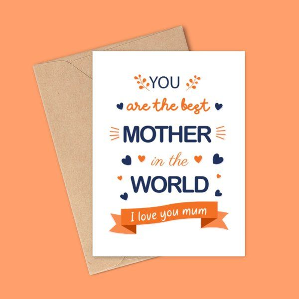 I Love You Mom Mother's Day Card Ideas