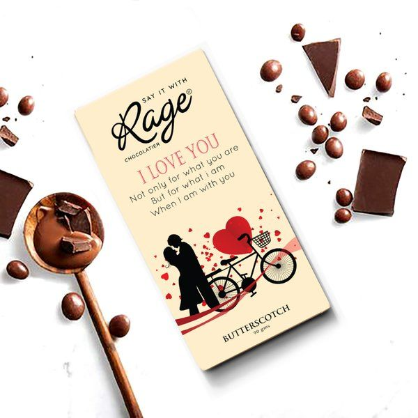 Rage Chocolatier I Love You Rose Day Gift For Husband