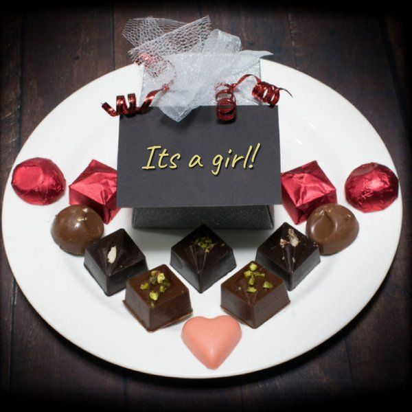 The Twenty Handmade Chocolates It's a Girl! (Box of 20) Gifts For Pregnant Wife