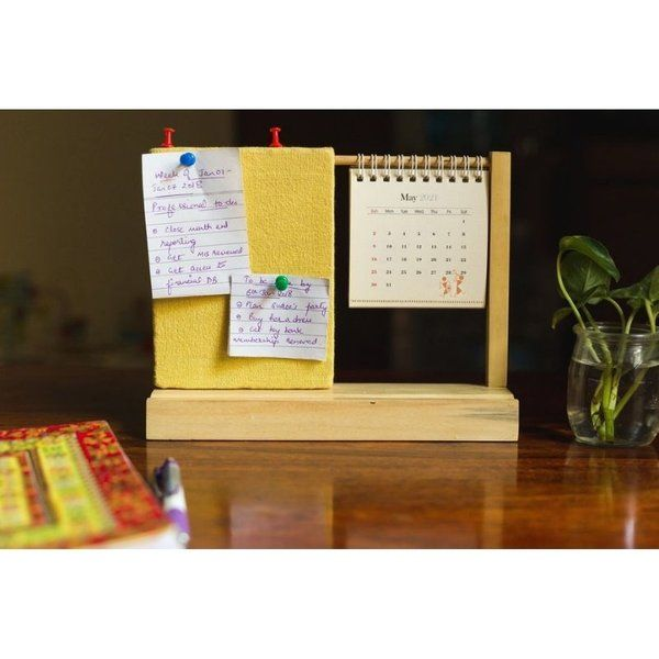IVEI Warli Desk Calendar With a Pin Board Best Gift for Retired Person