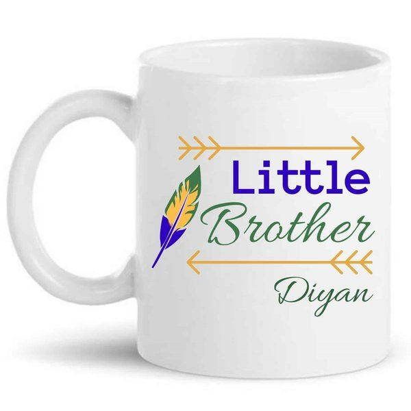 Knitroot Little Brother Mug Birthday Gift For Younger Brother
