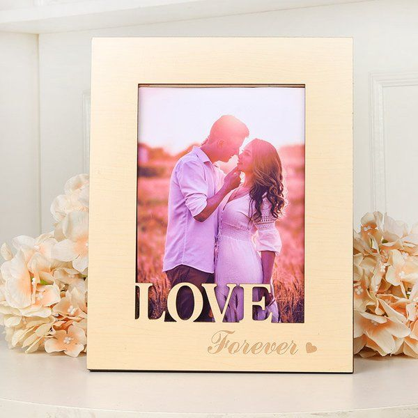 FlowerAura Love Forever Photo Frame Romantic Valentines Gifts For Husband