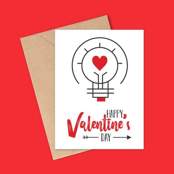 Privy Express Love is Light Valentine's Day Special Valentine Card For Husband