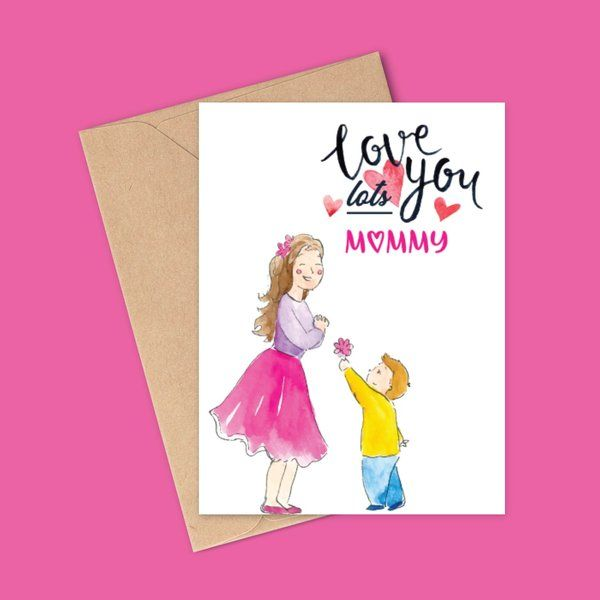 Privy Express Love You Mom Greeting Card Greeting Card For Mother