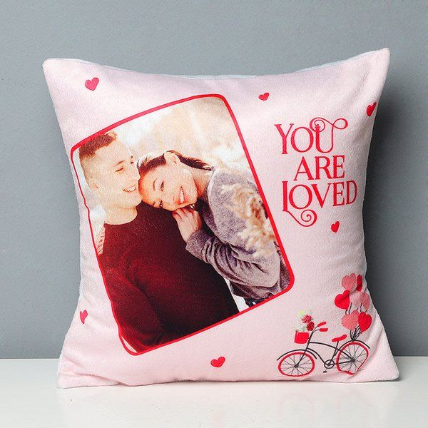 FlowerAura Lovely Nap Partner Cushion Romantic Valentines Gifts For Husband