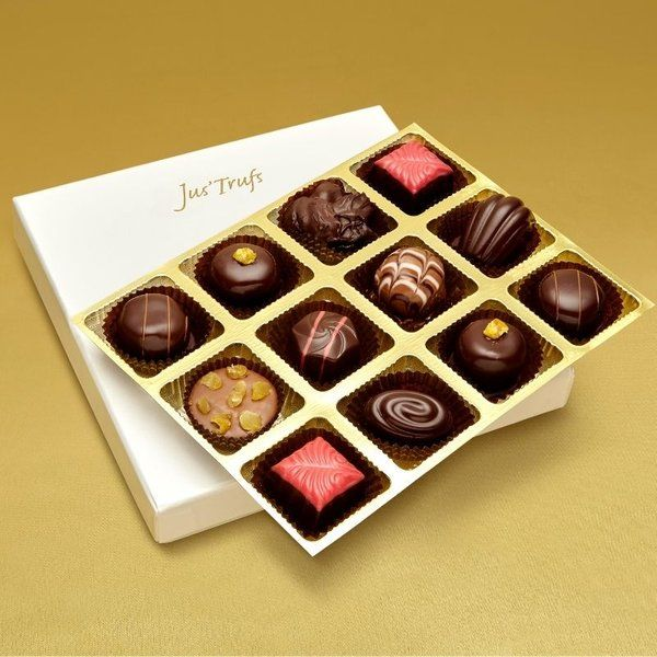 Jus'Trufs Chocolatiers Luxury Assortment of Chocolate Truffles Gift For Married Sister