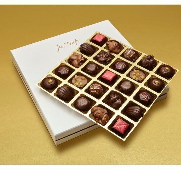 Jus'Trufs Chocolatiers Luxury Assortment of Truffles Box Gift For Married Sister
