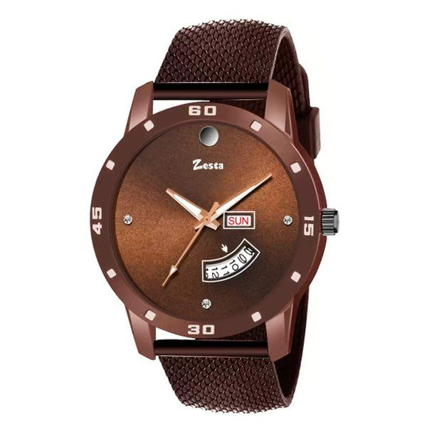 zestaindia Mash Finish Analogue Watch with Day and Date Feature Useful Gifts For Brother