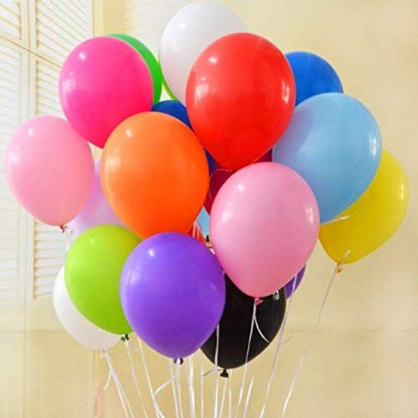 Arjoos Multicolour Latex Balloons For Party Decorations (deflated) Fathers Day Decorations