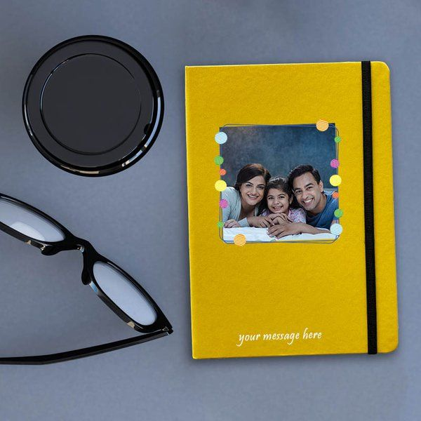 Privy Express Mustard Yellow Functional Personalised Diary/Notebook Graduation Gifts For Girls