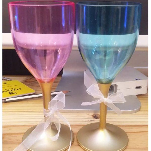 Stallion Barware Non Breakable Wine Glass Gift Set - (Set of 2) Cute Gifts For Best Friend