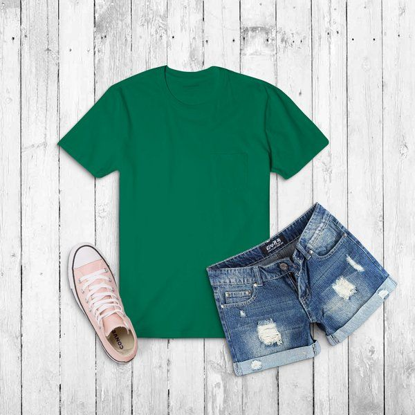 Privy Express Olive Green Solid Crew Round Neck Plain Cotton Men's T-shirt Special Gift For Brother