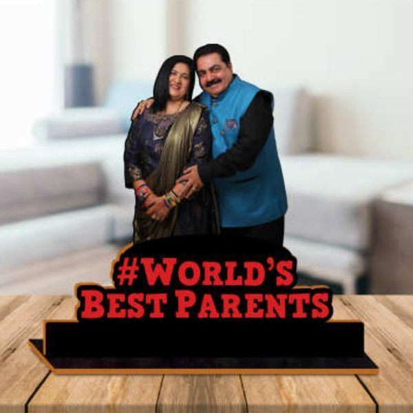 Waah Craft Parents Wooden Photo Standby With Message Anniversary Gift For Mom And Dad