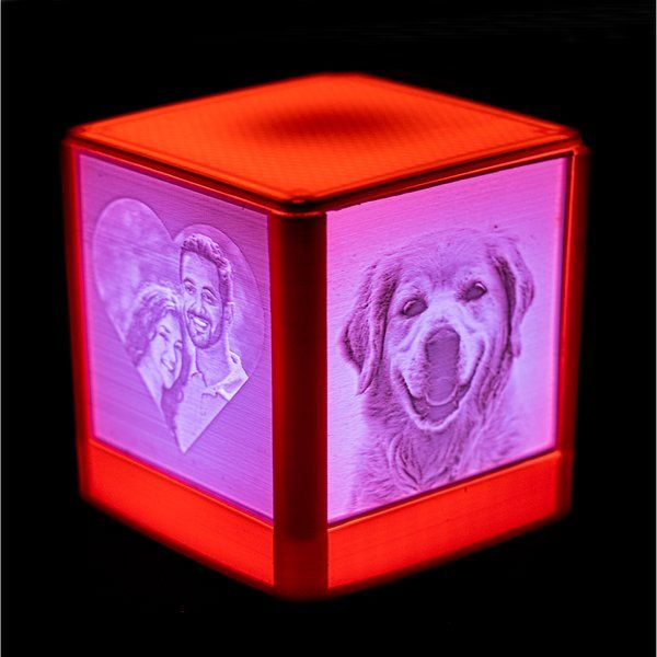 Soch3D Personalised 3D Photo Lamp Box (4 Photo) Birthday Gift For Younger Brother