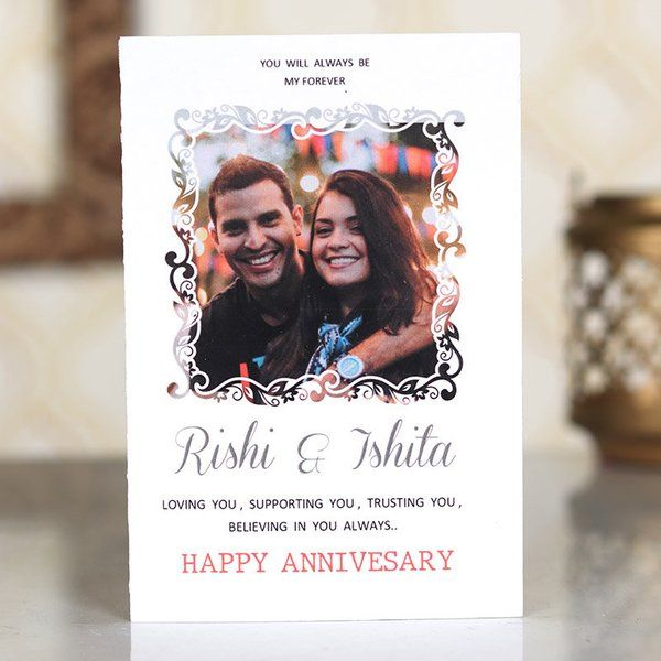 FlowerAura Personalised Anniversary Card First Anniversary Gift For Wife