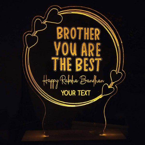 FlowerAura Personalised Bro Night Lamp Special Gift For Brother