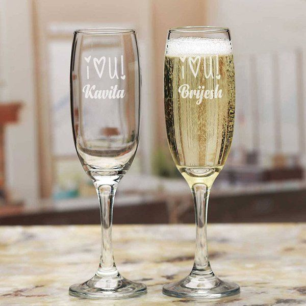 FlowerAura Personalised Confession champagne Glasses Small Gifts For Husband